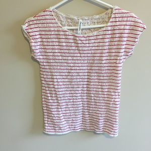 Aeropostale Pink and White Knit Top
